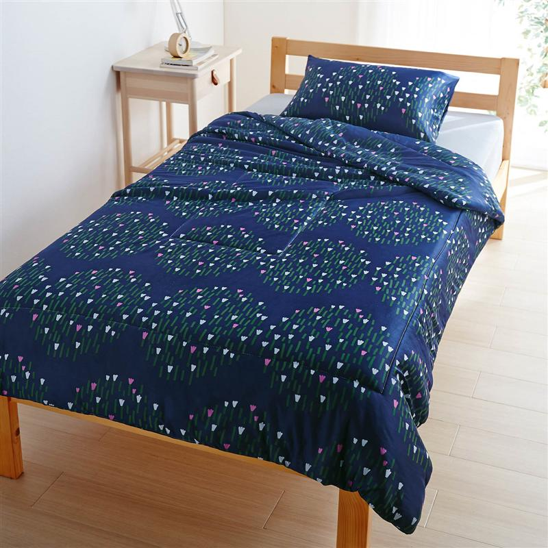 洗える北欧調デザインの接触冷感夏用寝具3点セット<シングル> ◆ 洋式シングル 和式シングル ◆