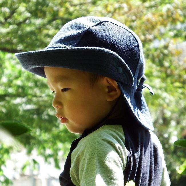 SALE お子様に安心して外遊びをさせてあげたい 帽子 キッズ ハット 紫外線ケアキッズ帽子 超激得SALE あごひも付き 後ろつば《ベルモード》子ども用UVカット帽子 CP UVカット率99%以上 ピンク 海外輸入 0530 定価4800円 ネイビー