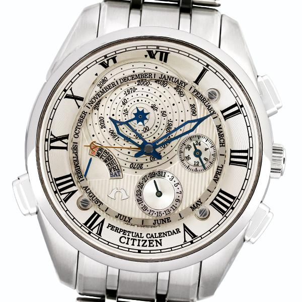 正規店にて2018年10月OH済み仕上げ済み CITIZEN シチズン カンパノラ パーペチュアルカレンダー CTR57 0981メンズクォーツ腕時計PkZiXuO
