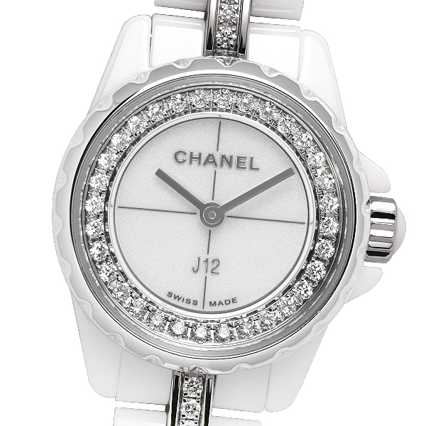 【美品】【保証書(2018年5月記載)】CHANEL シャネル J12・XS ホワイトセラミック H5238【中古】【クオーツ】【レディース】【腕時計】