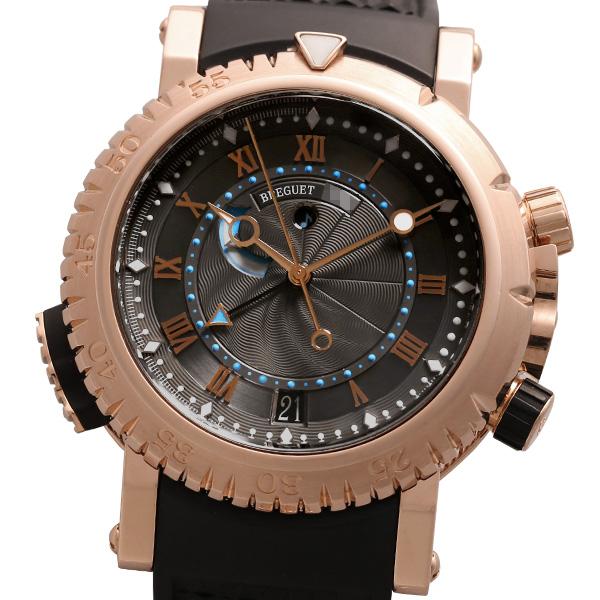 【仕上げ済み】【箱・保証書付き】【未使用純正革ベルト付き】BREGUET ブレゲ マリーン ロイヤル 5847BR/Z2/5ZV【自動巻】【メンズ】【腕時計】【中古】