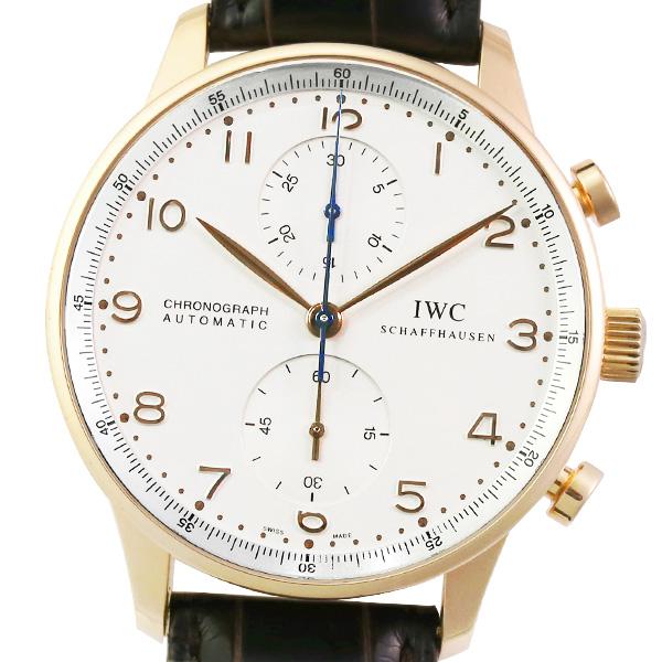 【2019年3月OH・仕上げ済み】【箱・保証書付き】IWC ポルトギーゼ クロノグラフ IW371402 【メンズ】【自動巻】【腕時計】【中古】