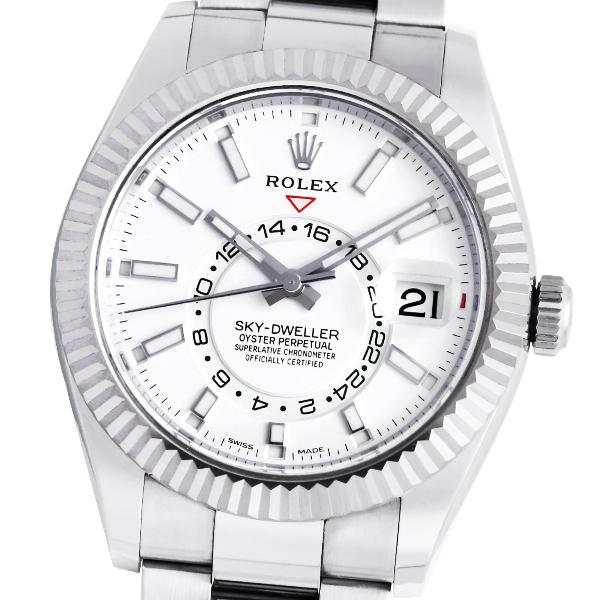 【美品】【保証書2017年11月記載】ROLEX ロレックス スカイドゥエラー 326934 (ホワイト)【自動巻】【メンズ】【腕時計】 【中古】
