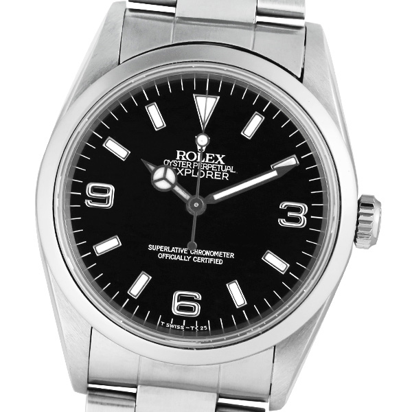 【2019年3月OH済み】【トリチウム】【箱・保証書付き】ROLEX ロレックス エクスプローラー 14270 W番【中古】【自動巻】【腕時計】【メンズ】