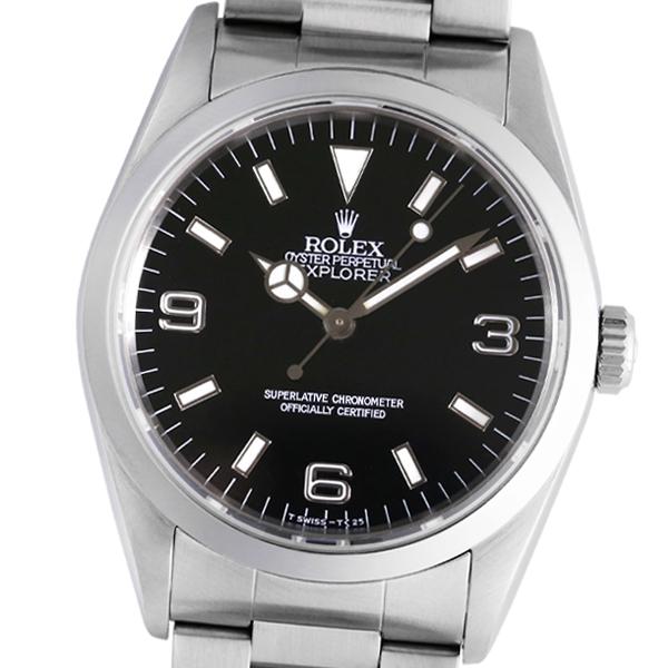【2019年6月OH・仕上げ済み】ROLEX ロレックス エクスプローラーI 14270 E番【中古】【自動巻】【メンズ】【腕時計】