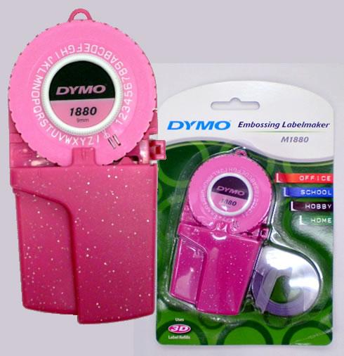 다이모/DYMO 라벨 테이프 라이터 M1880GPK 그릿타핀크(문자판 1장)