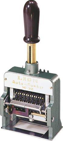 ライオン ダンボール用ナンバリング M32-9/206-43(印字面ゴム製)