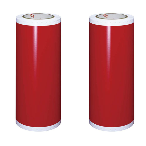 ビーポップシート300mm幅 赤 2巻入 SL-S333N2アカ 1箱(20m×2ロール)IL90818 (旧商品SL-S3003アカ) 屋内外シート(屋外使用1年程度・屋内使用2年程度)カッティング&プリント用 ピーポップシート300タイプ TAPE ROLL マックス(MAX)