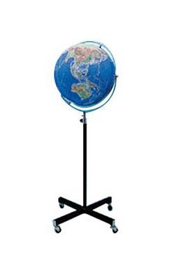 【43cm 地球儀】 昭和カートン(三貴工業) 地勢図タイプ地球儀(床面設置) 43-TRF 43TRF