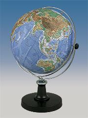 【43cm 地球儀】 昭和カートン(三貴工業) 地勢図タイプ地球儀 43-TRA 43TRA