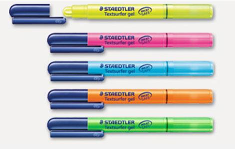 【メール便対応可能】【固形蛍光ペン】繰り出し式固形の蛍光マーカー。発色が良く、なめらかな書き味が特徴.264-1PB,264-23PB,264-3PB,264-4PB,264-5PB ステッドラー テキストサーファー ゲル 264-PB 固形蛍光マーカーSTAEDTLER