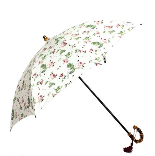 ピエール=ジョゼフ・ルドゥーテ 折り畳み傘 / 晴雨兼用加工 ホワイト 日本製