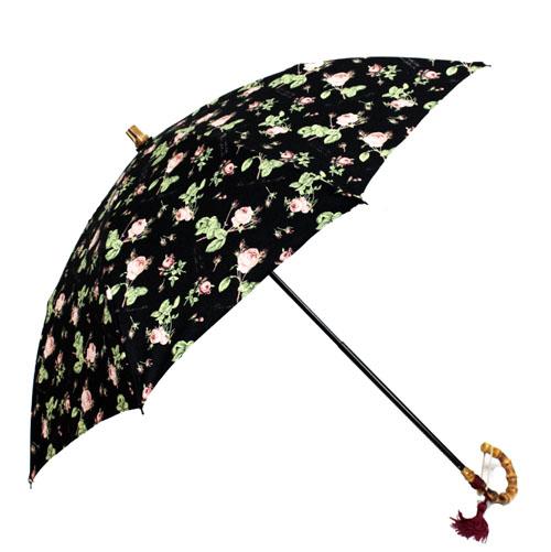 ピエール=ジョゼフ・ルドゥーテ 折り畳み傘 / 晴雨兼用加工 ブラック 日本製