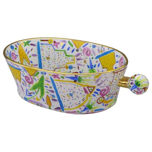 川口淳 作品番号35 楕円筒鉢