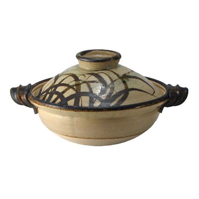 土楽窯の土鍋 芒紋鍋 一尺