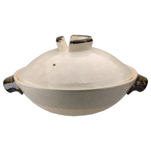土楽窯の土鍋 ねぎぼうず鍋(無地)一尺