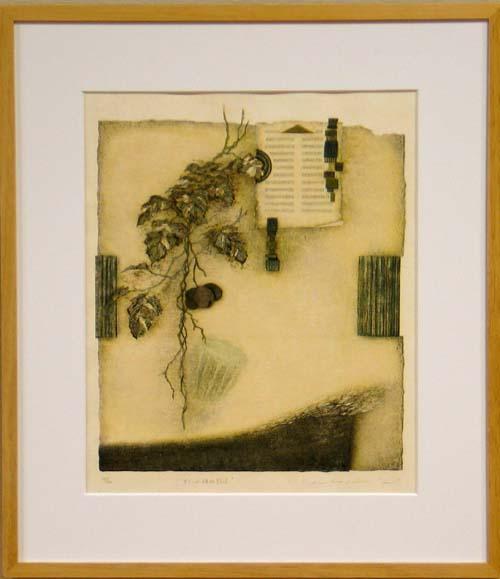 岩切裕子 額付き木版画 オランダ植物誌1(2003年)