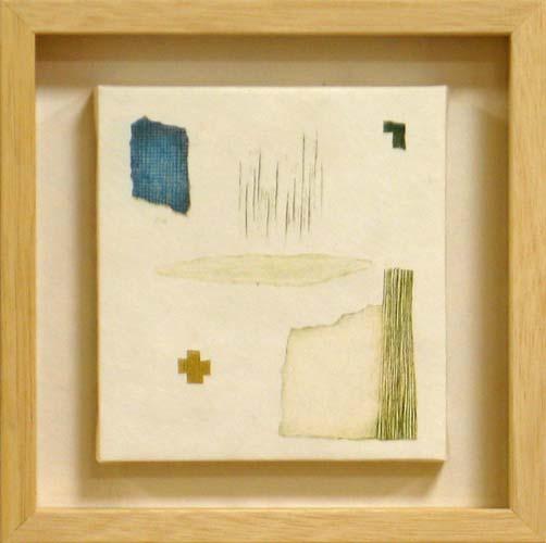 岩切裕子 額付き木版画 position(2004年)