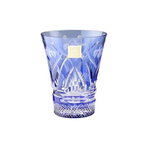 大倉陶園×カガミクリスタル 12ヶ月グラス 冷酒杯 5月 杜若
