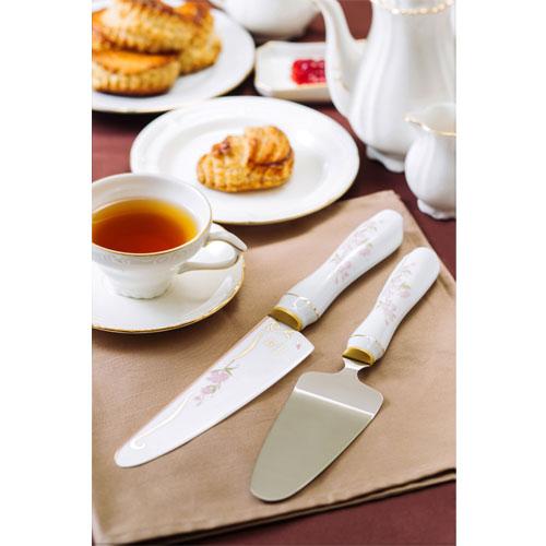 Minova Minova Japanese flowers 1 Sakura short knife & cake server set (Sakura).