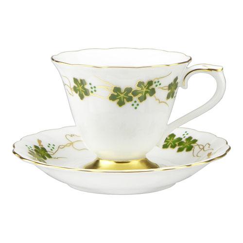 大倉陶園 100周年カウントダウン碗皿シリーズ第3弾 「上絵色盛野葡萄」コーヒーカップ&ソーサー