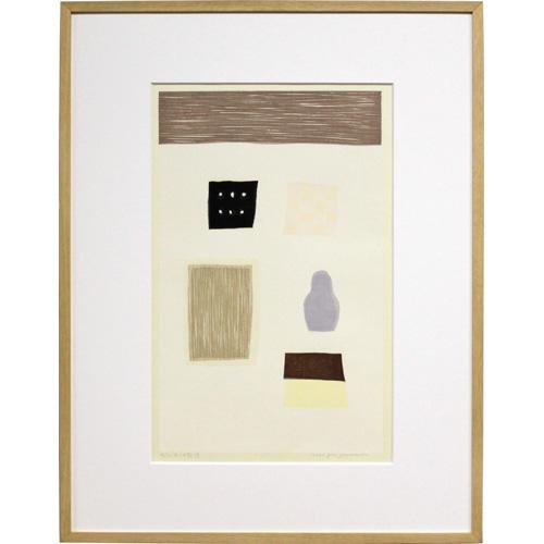 山中現 額付き木版画 『5つの記憶』 2000年