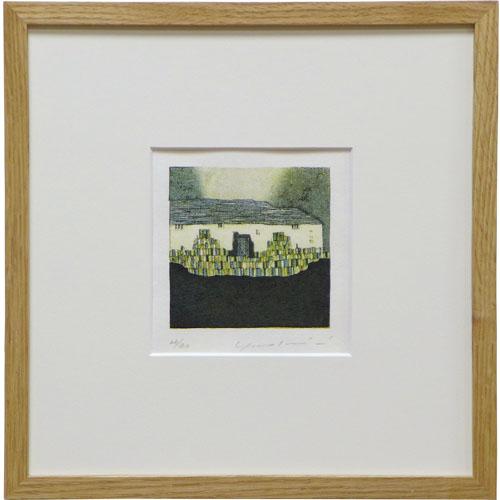 岩切裕子 額付き木版画 『andante』 2011年