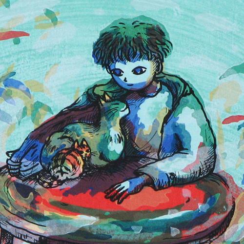 風鈴丸 額付き木版画 サスケ 1993年