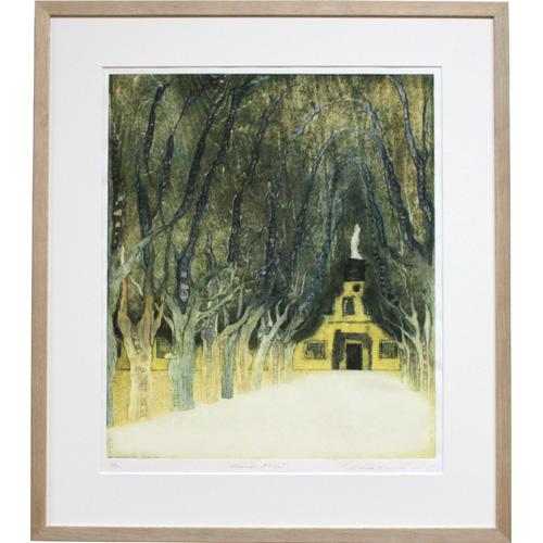 岩切裕子 額付き木版画 Kammer Allee(2009年)