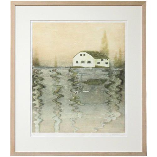 "Iwakiri, Yuko framed woodblock ""mist"" (2009)"