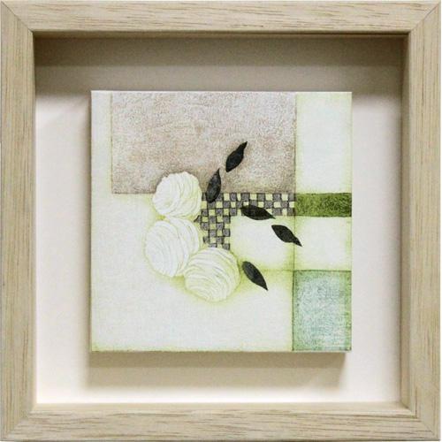 岩切裕子 額付き木版画 『rosery』 2006年 ボックスフレーム仕様