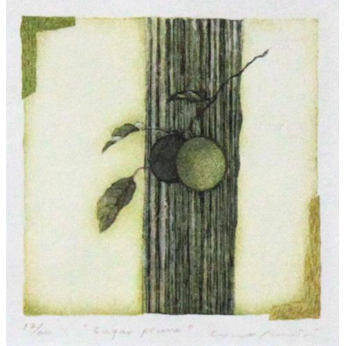 岩切裕子 木版画 『Sugar prune』(2006年) シートのみ