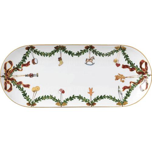 ロイヤル コペンハーゲン スターフルーテッド クリスマス 39cmオーバルディッシュ