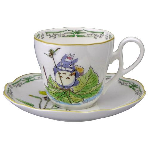 则武骨质瓷和成为了我的邻居龙猫茶咖啡杯子盘子 (杯 & 飞碟)