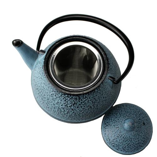 Nanbu iron Kettle OIGEN and source teapot egg-shaped blue 0.55 L