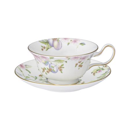 Wedgwood Suite Plum Teacup Saucer ピオニー