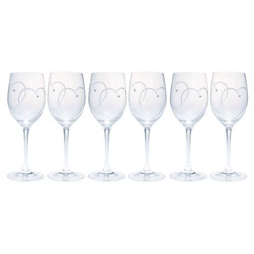 ウェッジウッド プロミシス 『トゥー ハーツ』 ワイングラス 6客ギフトセット