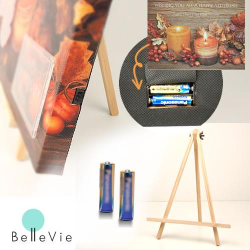 クリスマス インテリア LED ライトアップ 賜物 電池※単品購入不可※ ライトアップキャンバス専用イーゼル 百貨店 フォトジェニック オプション