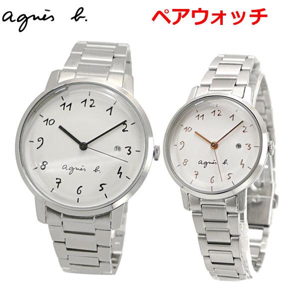 アニエスベー agnes b. ペアウォッチ(2本セット) 腕時計 38mm & 30mm メンズ/レディース マルチェロ Marcello