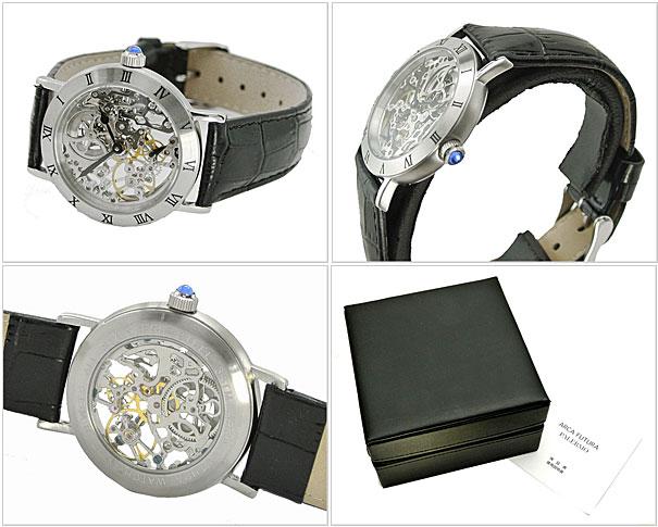 ARCA FUTURA 시계 기계 보이즈 사이즈/남녀 공용/가죽 벨트 (블랙) アルカフトゥーラ 212SKBK