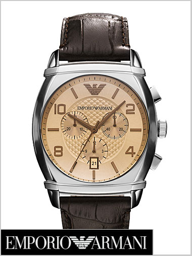 (Brown dial-leather belts) the chronograph men's watch AR0348