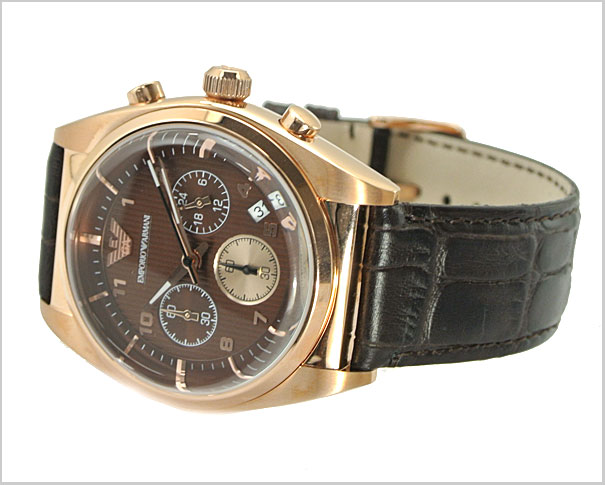 (Brown dial-leather belts) the chronograph men's watch AR0371