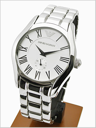 Emporio Armani watches-EMPORIO ARMANI mens (seconds/Silver Dial) AR0647