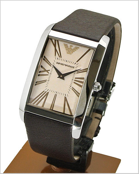 Watch (brown clockface, cowhide belt) AR2032 for the man