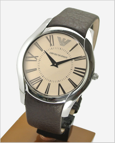 Emporio Armani EMPORIO ARMANI men's Watch (Brown dial-leather belt Emporio Armani AR2041