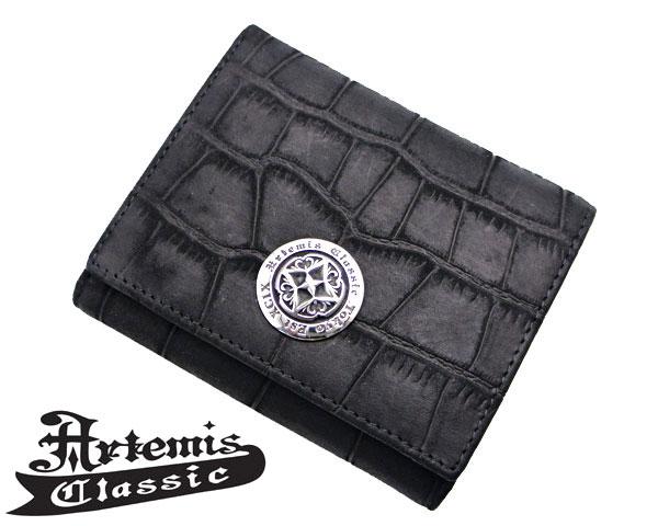 アルテミスクラシック Artemis Classic ショートウォレットヌバッククロコスタイル 財布 ACSW0001