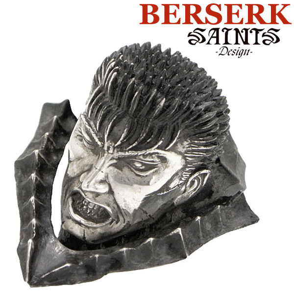 【SAINTS Design セインツ デザイン】BERSERK ベルセルク ガッツシルバーリング 狂戦士の甲冑 兜なし.ver 限定100個 シリアルナンバー入り BSS-R-02(受注生産モデル)正規品