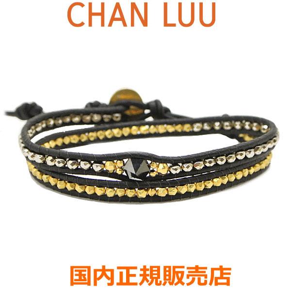 チャンルー CHAN LUU クリスタルビーズミックス 2連ラップブレスレット レディース チャンルー CHANLUU BG-5595-PYRITE MIX