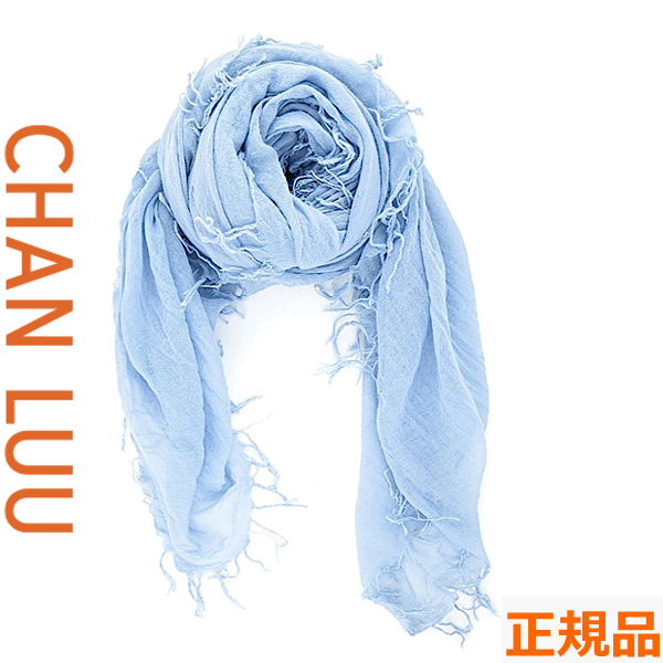 チャンルー CHAN LUU カシミヤシルク 大判ストール/スカーフ チャンルー CHANLUU BRH-SC-140 CASHMERE BLUE