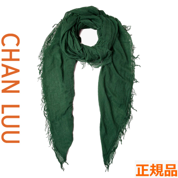 チャンルー CHAN LUU カシミヤシルク 大判ストール/スカーフ チャンルー CHANLUU BRH-SC-140 TREKKING GRN
